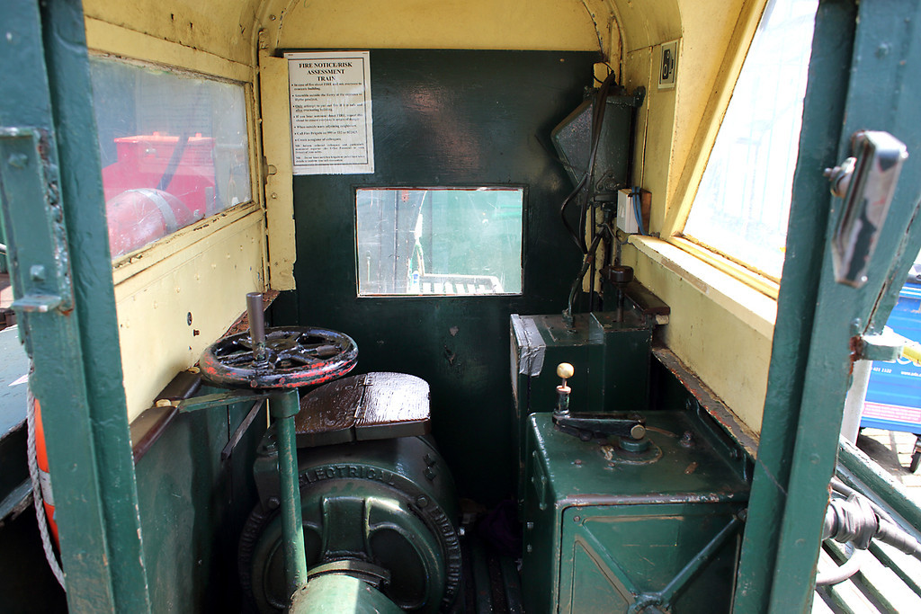Cab of Hythe Pier Railway No.1, 27/8/2013