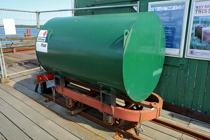 Hythe Pier Railway fuel tanker, Hythe Pier Head 27/8/2013