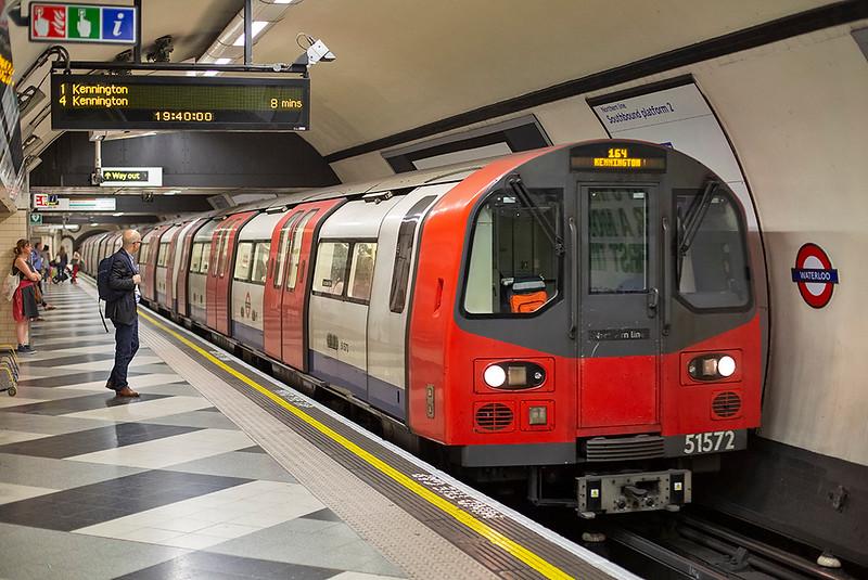 Northern Line 51572, Waterloo 27/8/2013