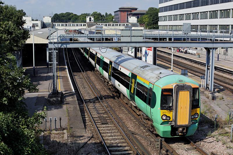 377141 Southampton Central 27/8/2013<br /> 1N14 1133 Southampton Central-Brighton