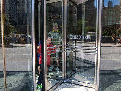 They LOVED revolving doors