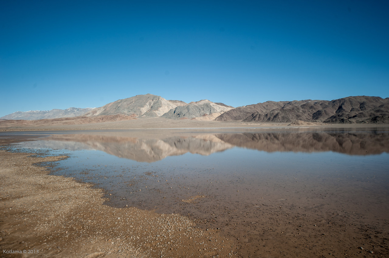 What we actually got at Racetrack Playa - record flooding and a thin layer of ice!