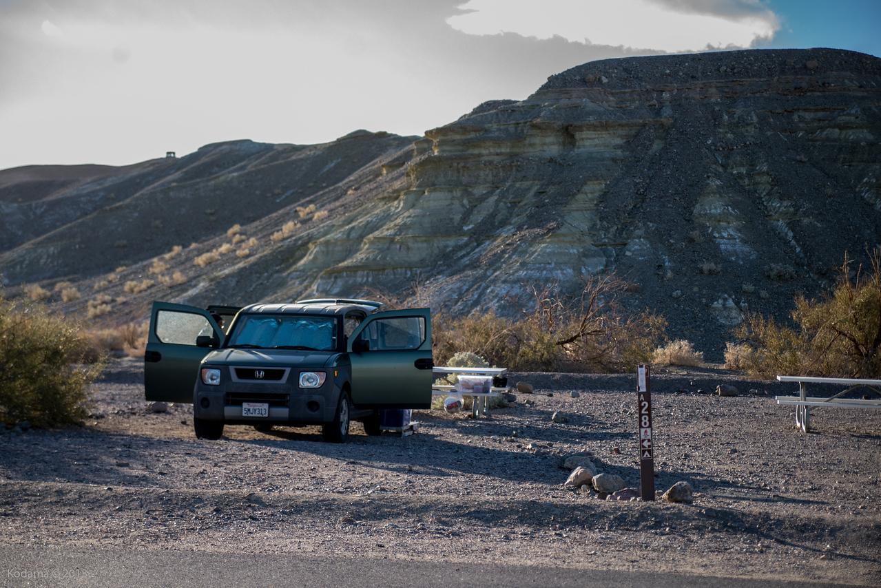 Texas Springs campsite.