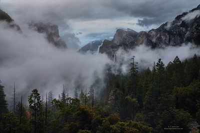 Stormy Yosemite Valley