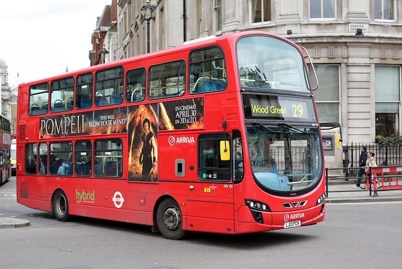 HV92 LJ13FCN, Trafalgar Square 2/5/2014