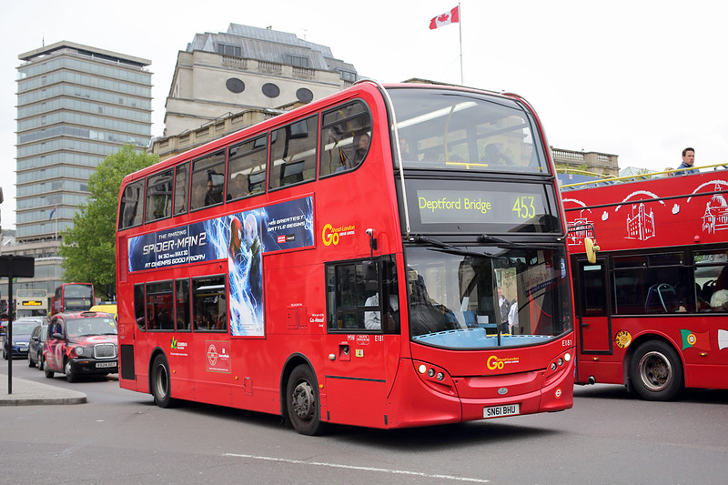 E181 SN61BHJ, Trafalgar Square 2/5/2014