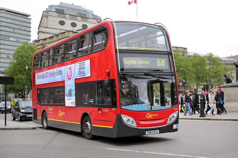 E129 SN60BZA, Trafalgar Square 2/5/2014