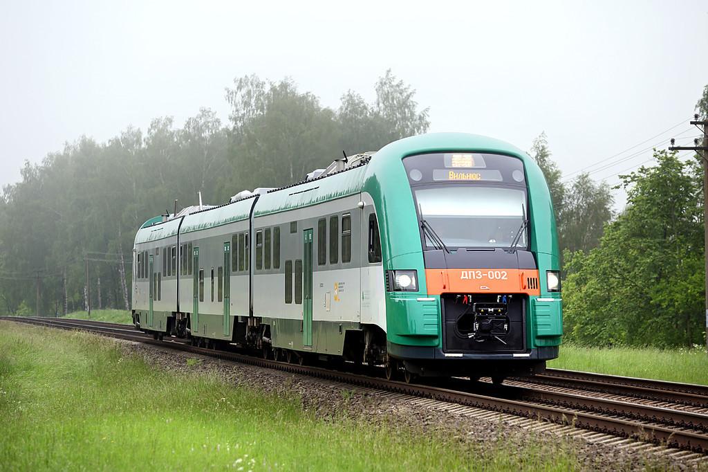 ДП3-002 Sadūniškės 2/6/2014<br /> G805 0740 Minsk Pasažierskii-Vilnius