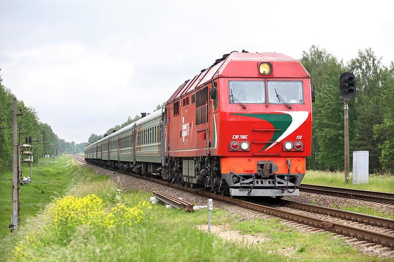 ТЗП70БС-113 Pakenē 2/6/2014<br /> 426 0848 Kalingrad Pasažierskii-Cheliábinsk Glavny