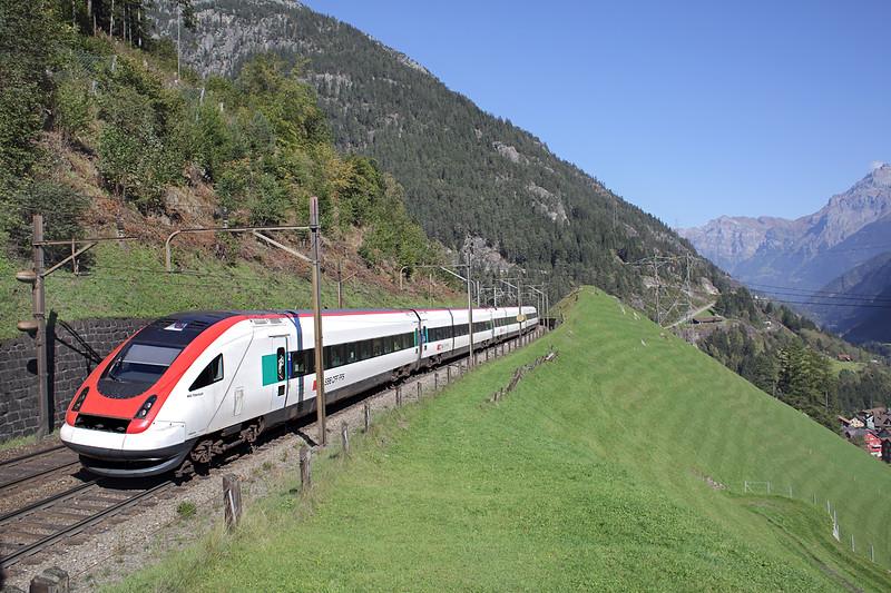 50007 Wassen 2/10/2014<br /> ICN869 1109 Zürich HB-Lugano