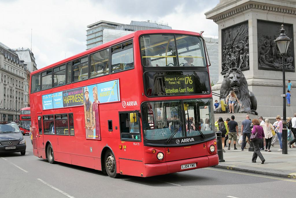 VLA73 LJ04YWE, Trafalgar Square 6/8/2014