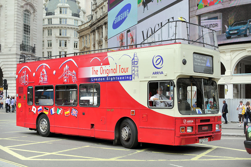 OA327 J327BSH, Piccadilly Circus 8/8/2014