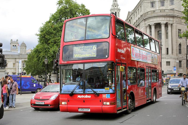 VP539 LK04CUY, Trafalgar Square 6/8/2014