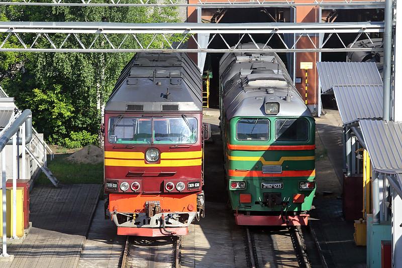 TЗП70-0268 and 2M62-1233, Riga Daugmale 7/6/2014