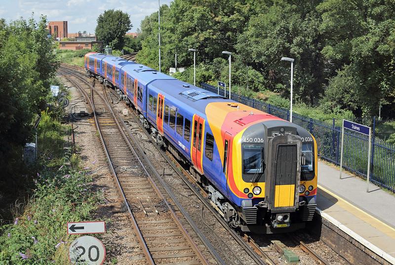450036 Staines 7/8/2014<br /> 2S34 1203 Weybridge-London Waterloo