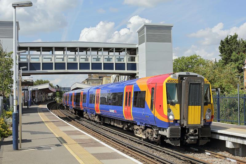 458531 Staines 7/8/2014<br /> 2U34 1223 Windsor and Eton Riverside-London Waterloo