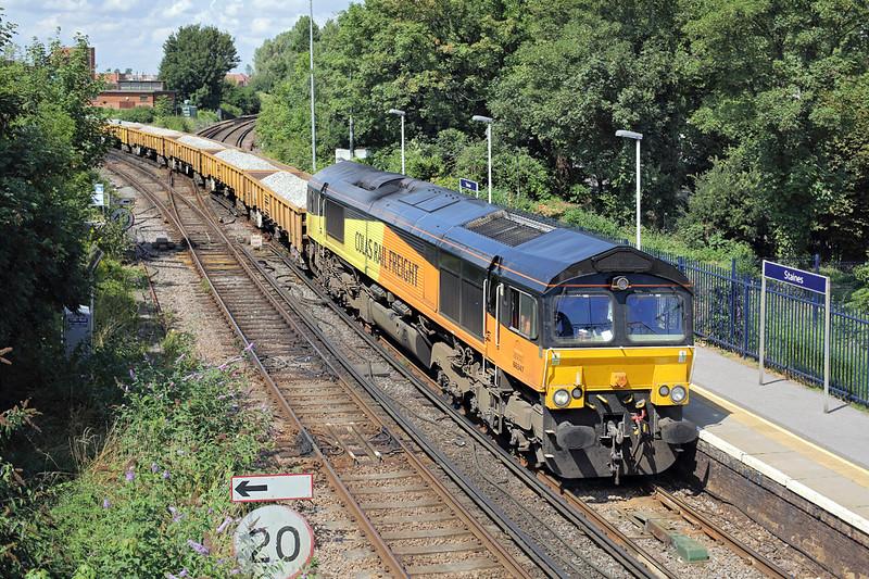66847 Staines 7/8/2014<br /> 6Y41 0902 Eastleigh East Yard-Hoo Junction