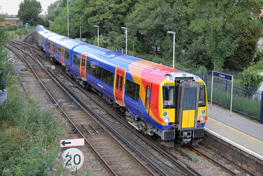 458534 Staines 7/8/2014<br /> 5Z50 1001 Wimbledon Park CS-Wimbledon Park CS<br /> (via Windsor and Eton Riverside)