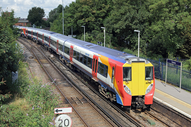 8019 and 8024, Staines 7/8/2014<br /> 2C28 1012 Reading-London Waterloo