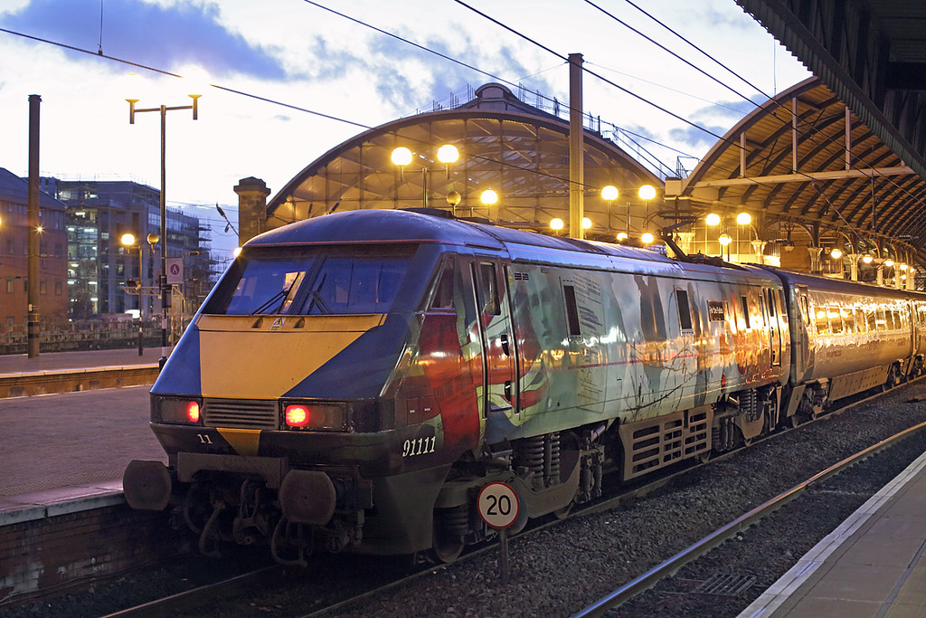 91111 Newcastle 10/12/2014<br /> 1Y44 1625 Newcastle-London Kings Cross