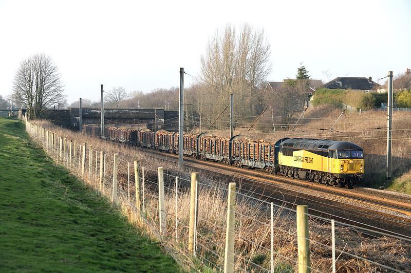 56087 Lostock Hall 12/3/2014<br /> 6J37 1240 Carlisle Yard-Chirk