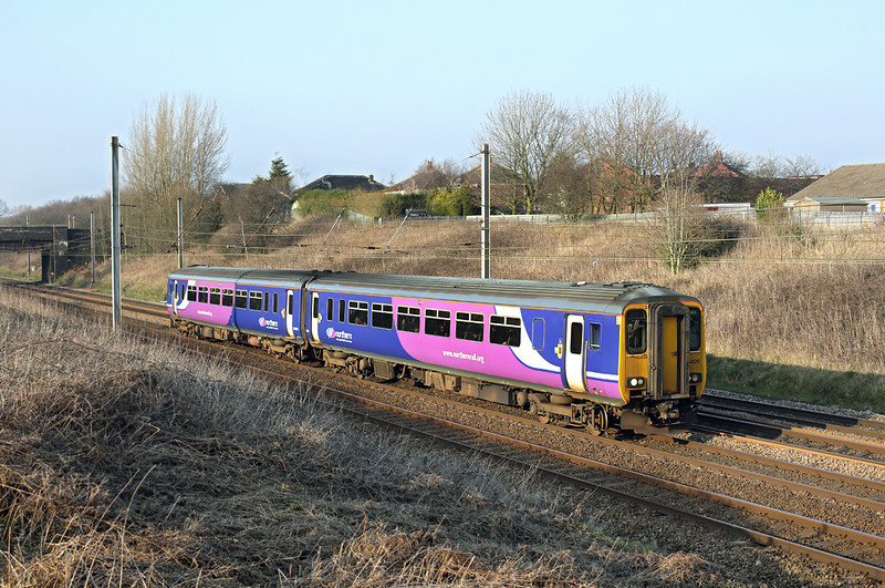 156426 Lostock Hall 12/3/2014<br /> 2F53 1535 Blackpool North-Liverpool Lime Street