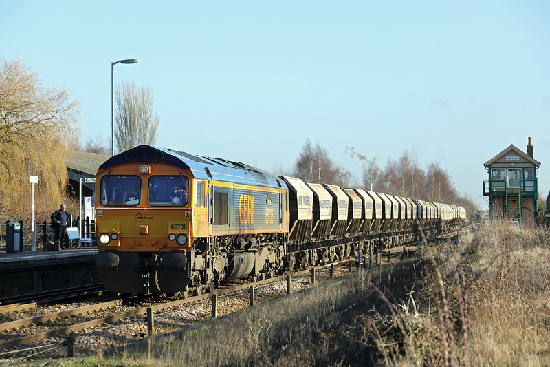 66736 Whittlesea 13/1/2014<br /> 6E84 0820 Middleton Towers-Monk Bretton