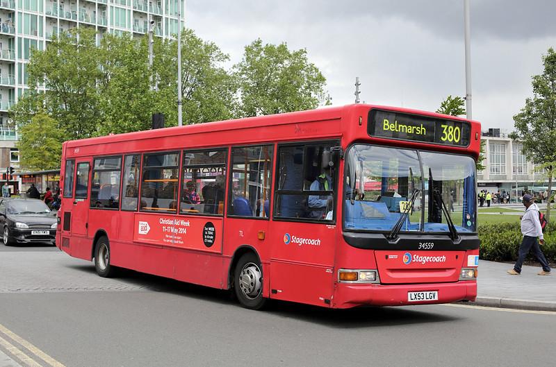 34559 LX53LGV, Woolwich 13/5/2014