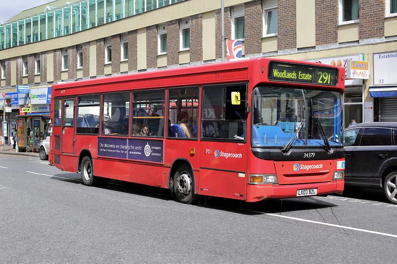 34379 LX03BZL, Woolwich 13/5/2014