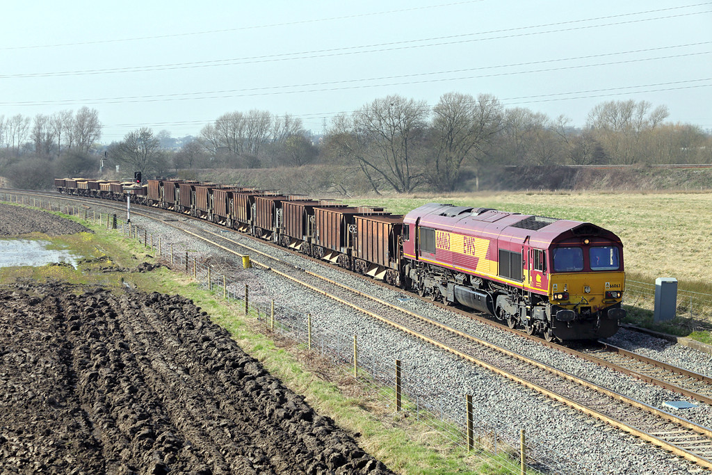 66063 Stenson 14/3/2014<br /> 6D44 1109 Bescot Up Sidings-Toton North Yard