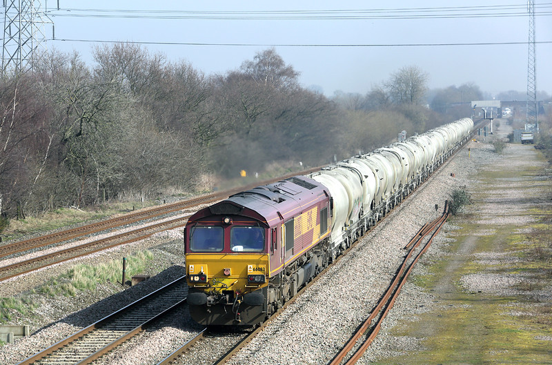 66083 North Stafford Junction 14/3/2014<br /> 6Z65 0918 Earles Sidings-Walsall Freight Terminal