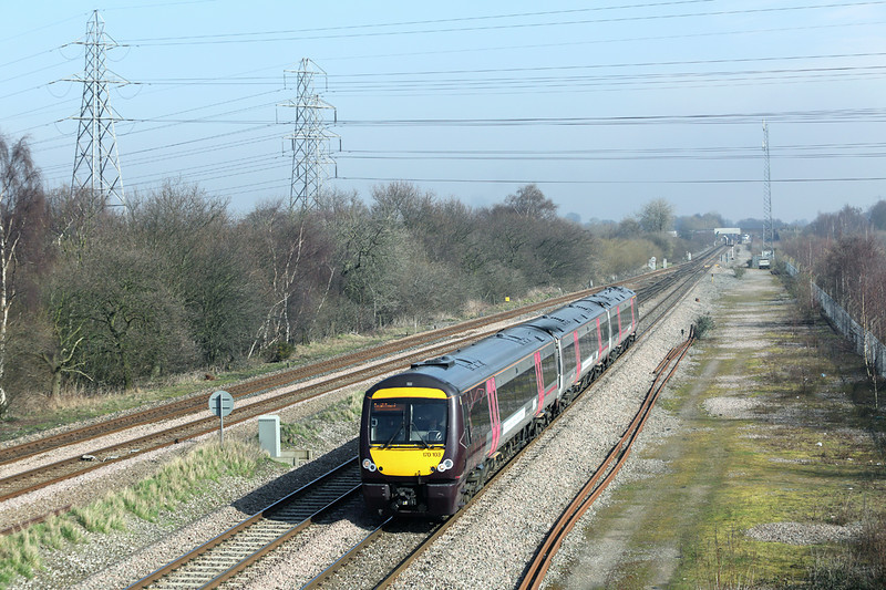 170103 North Stafford Junction 14/3/2014<br /> 1V08 1110 Nottingham-Cardiff Central