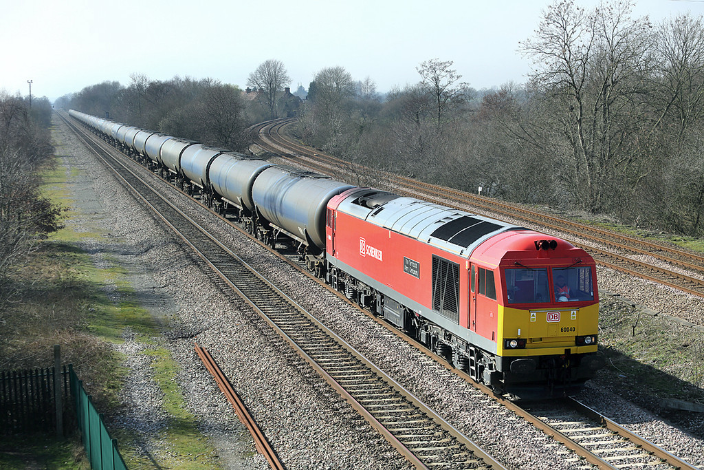 60040 North Stafford Junction 14/3/2014<br /> 6E54 1040 Kingsbury-Humber Oil Refinery