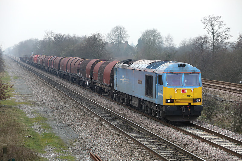 60074 North Stafford Junction 14/3/2014<br /> 6E08 1303 Wolverhampton Steel Terminal-Masborough