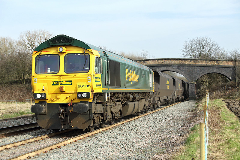 66585 Stenson 14/3/2014<br /> 6M49 0800 Hull King Georges Dock-Rugeley PS