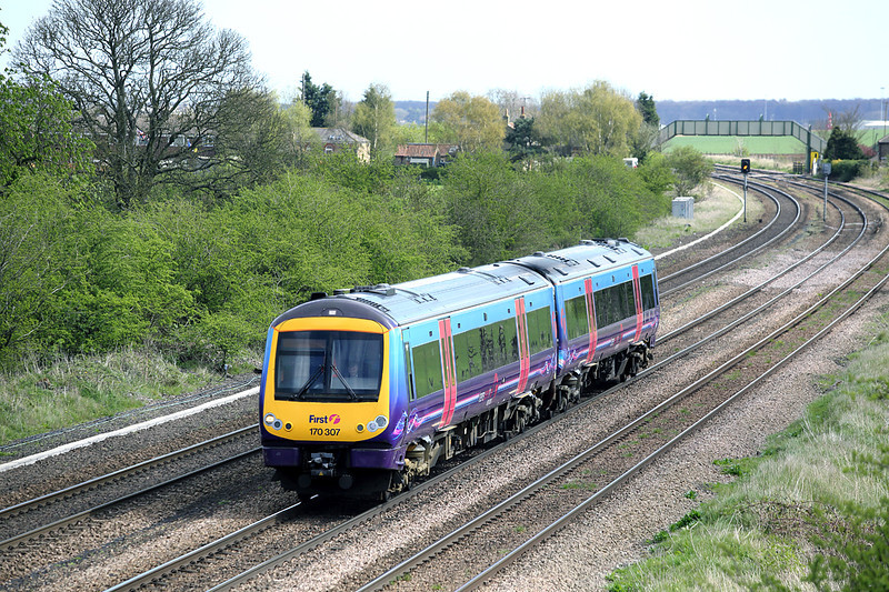 170307 New Barnetby 14/4/2014<br /> 1B77 1126 Cleethorpes-Manchester Airport