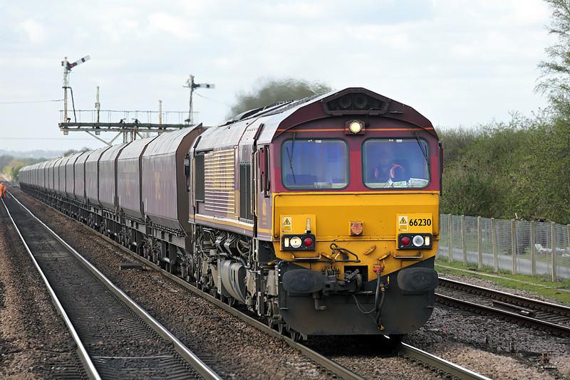66230 Barnetby 14/4/2014<br /> 4R13 0909 Milford Sidings-Humber Terminal