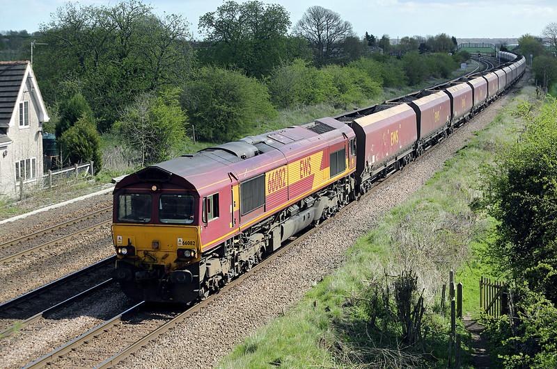 66082 Melton Ross 14/4/2014<br /> 6F71 1115 Immingham Dock-Cottam PS