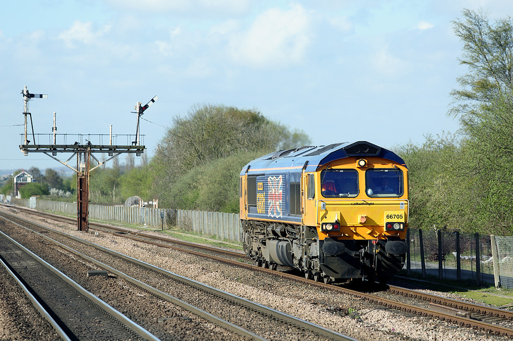 66705 Barnetby 14/4/2014<br /> 0C63 0850 Doncaster roberts Road-Immingham Dock