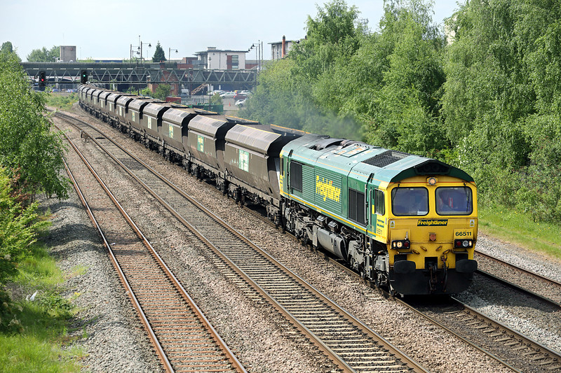 66511 Burton-upon-Trent 15/5/2014<br /> 4E42 0929 Rugeley PS-Barrow Hill