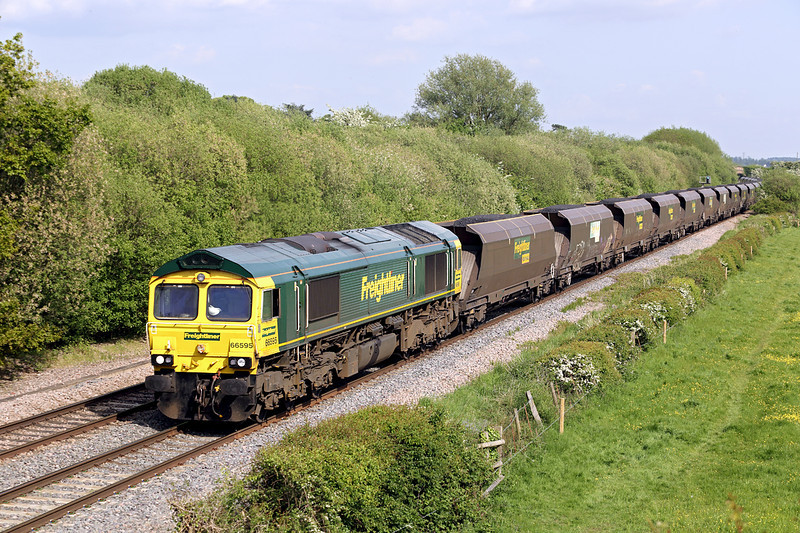 66595 Barrow-upon-Trent 15/5/2014<br /> 6M51 1145 Immingham Dock-Rugeley PS