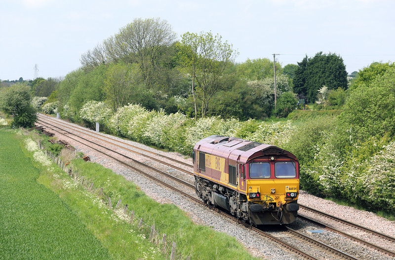 66034 Barrow-upon-Trent 15/5/2014<br /> 0O01 1220 Toton TMD-Eastleigh Yard