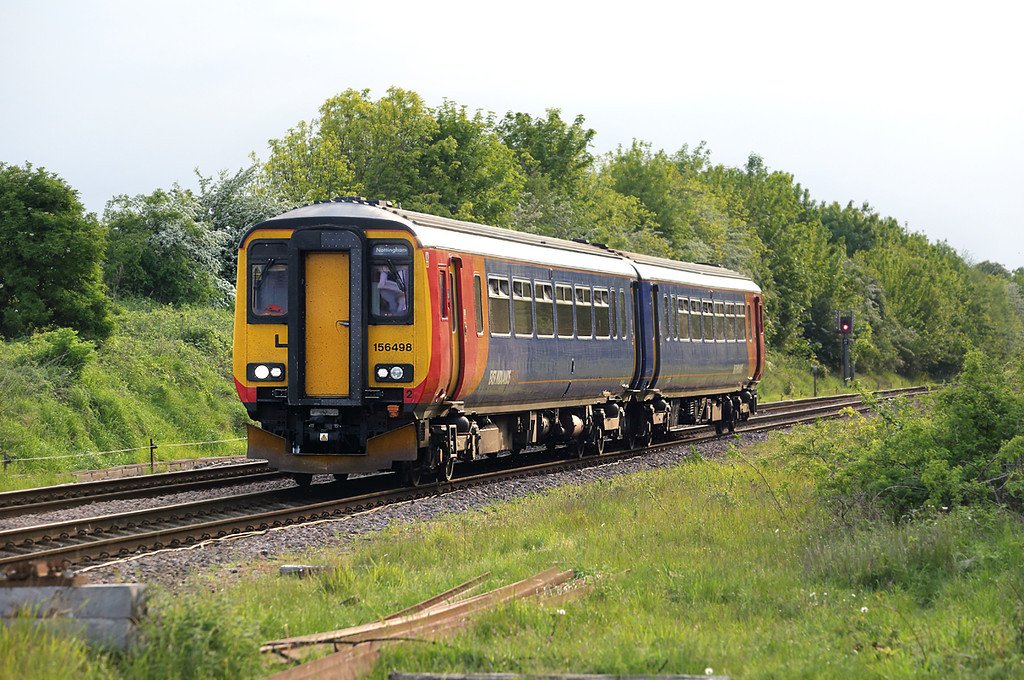 156498 Ancaster 15/5/2014<br /> 2S27 1745 Nottingham-Skegness