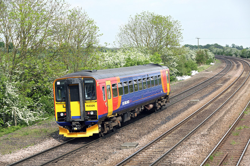 153326 New Barnetby 16/5/2014<br /> 2T41 1437 Lincoln Central-Grimsby Town