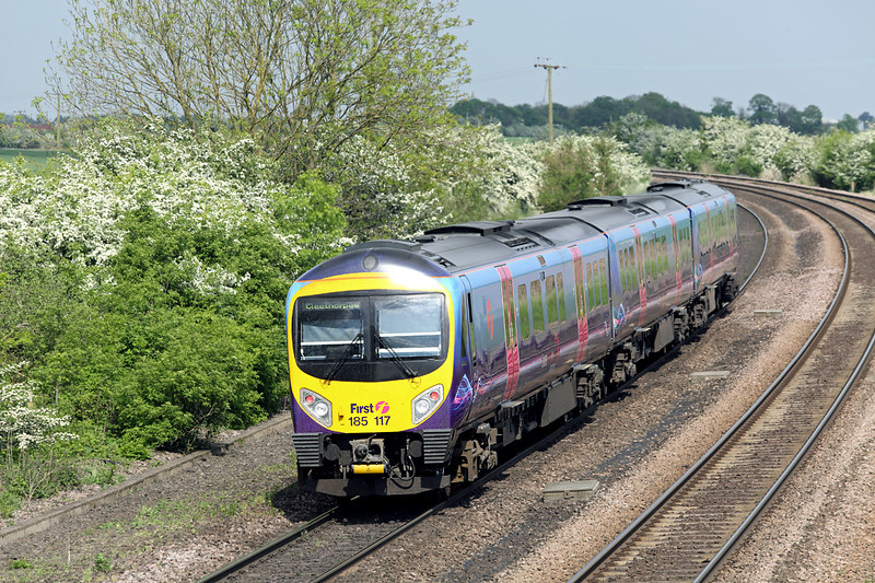 185117 New Barnetby 16/5/2014<br /> 1B78 1255 Manchester Airport-Cleethorpes