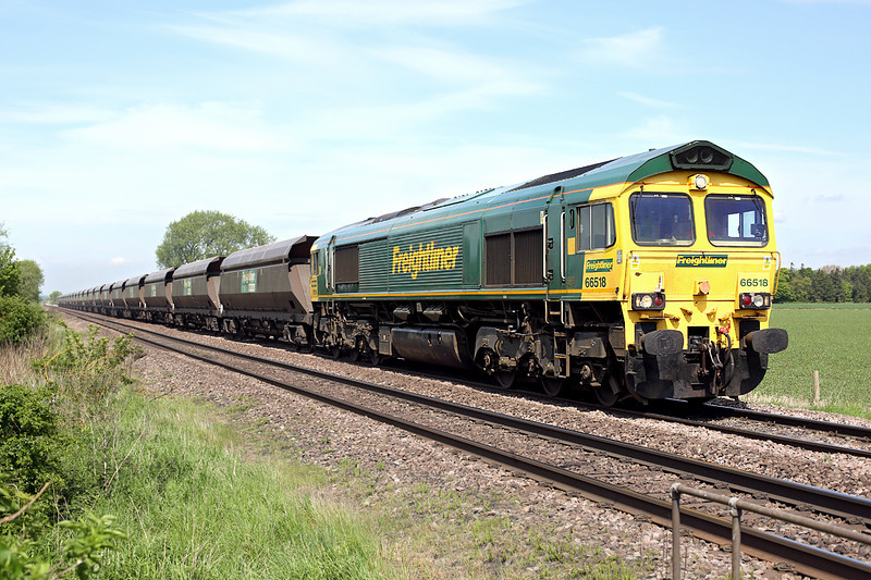 66518 Elsham 16/5/2014<br /> 4R14 0924 Hunslet Yard-Immingham Dock
