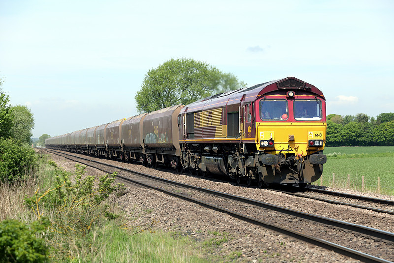 66181 Elsham 16/5/2014<br /> 4R13 0800 Cottam PS-Immingham Dock
