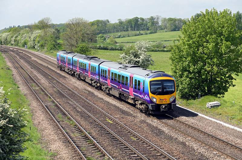 185115 Melton Ross 16/5/2014<br /> 1B72 0955 Manchester Airport-Cleethorpes