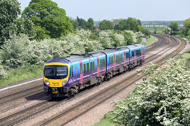 185115 Melton Ross 16/5/2014<br /> 1B81 1326 Cleethorpes-Manchester Airport