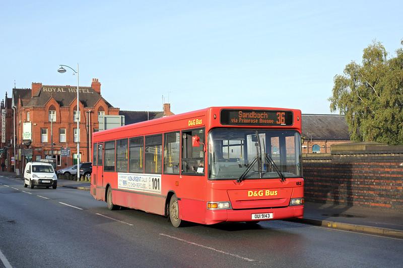 183 OUI9143, Crewe 17/10/2014